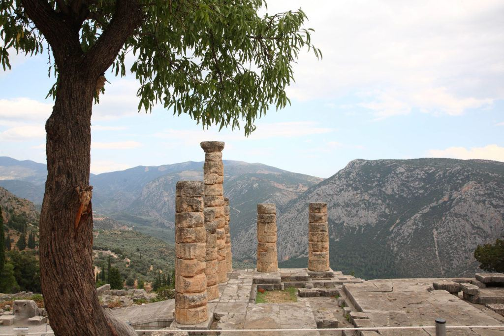 Temple of Apollo, home to the Oracle of Delphi.