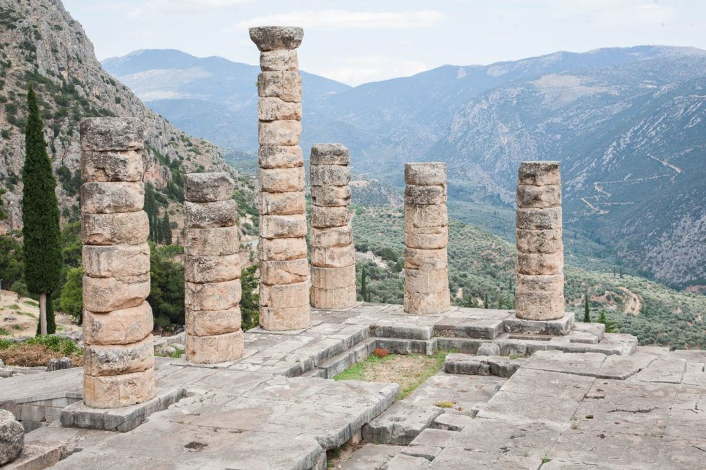Visit Delphi for a spectacular view like this.