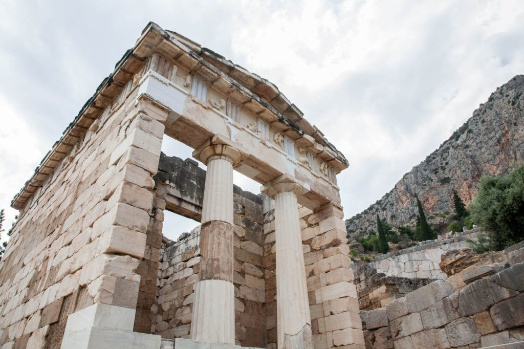 Treasury of Athenians, show off the riches of Delphi.