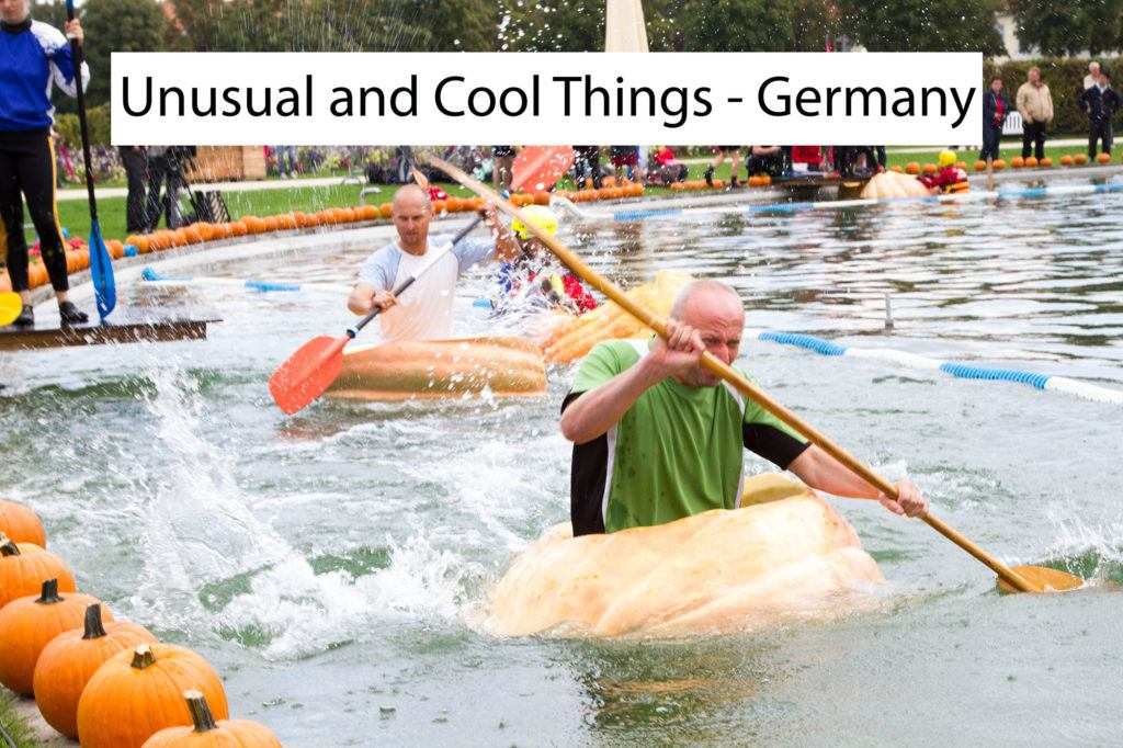 Unusual and Cool Things You Can Do Only in Germany like racing in a pumpkin boat.