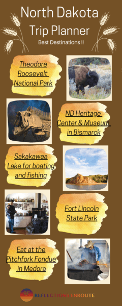 Best Destinations in North Dakota Infographic.