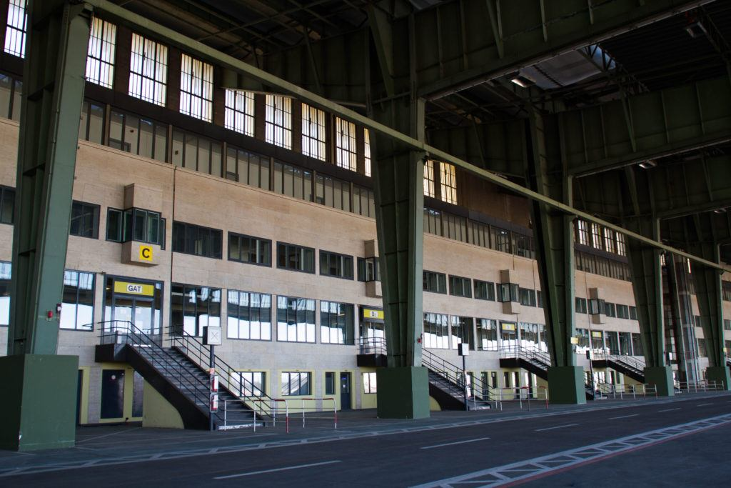 Tempelhof, the former Berlin Air Force Base, where 5,000 tons of supplies were delivered every day during the Berlin Airlift.