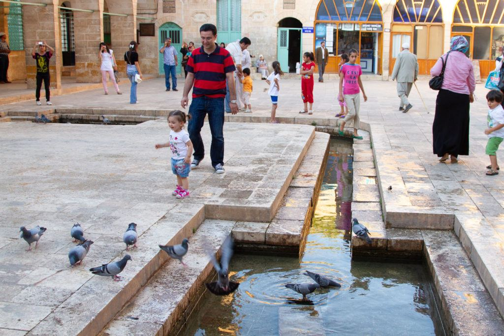 Everyone is enjoying their visit to Sanliurfa, like this little girl.
