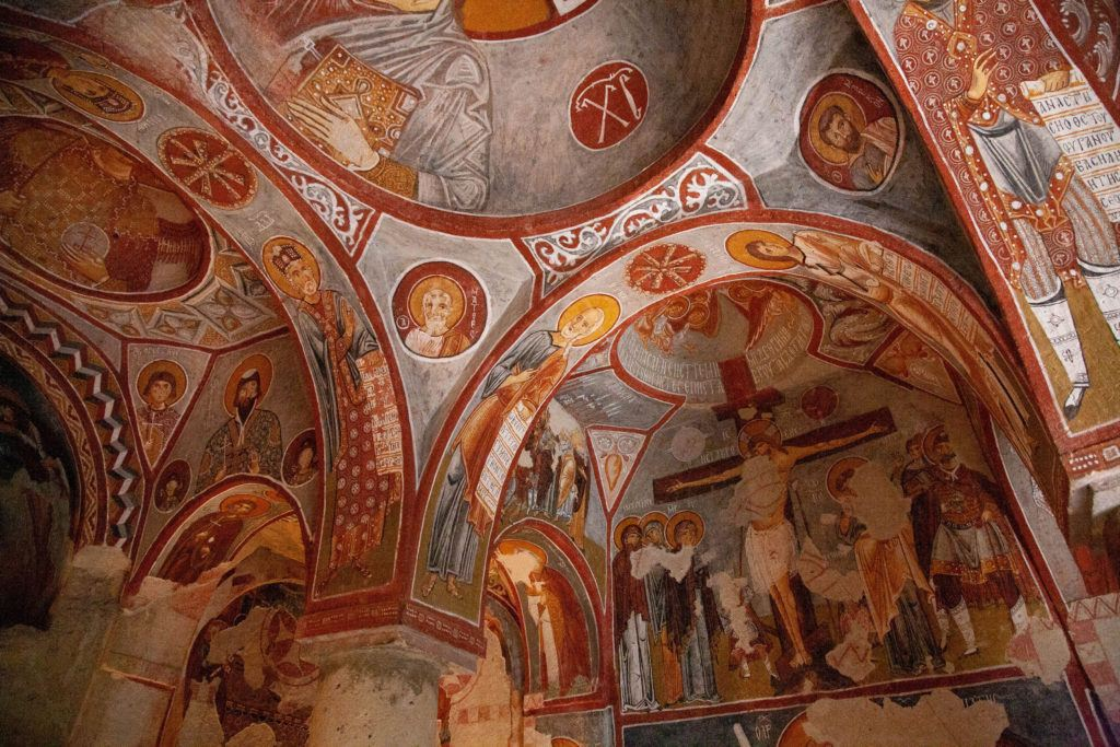Fresco in Elmali Kilise, the Apple Church, in Goreme National Park, Cappadocia.