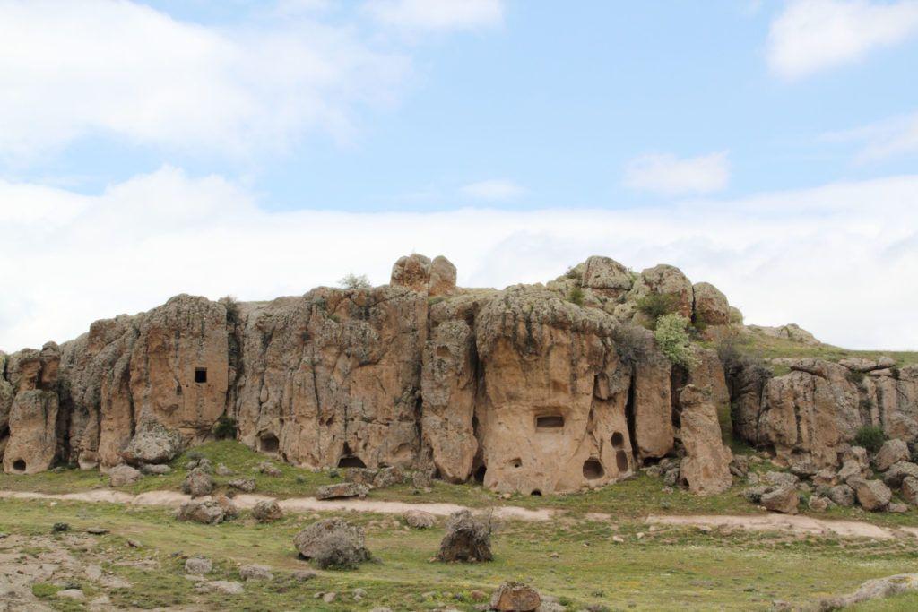 Cave houses in Ihlara Valley Turkey.