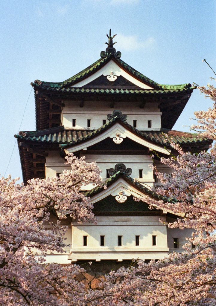 Hirosaki Castle cloaked in pink petals makes it one of the best places to see cherry blossoms in Japan.