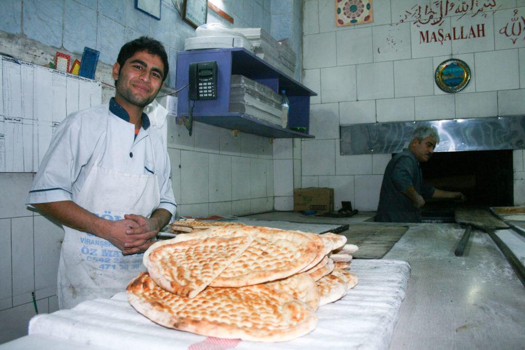 Bread baker in Sanliurfa.