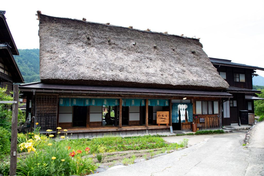 There are plenty of places to eat traditional Japanese food in Ogimachi, like this one.