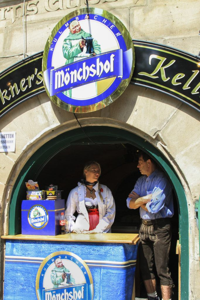 Monschof beer is sold out of their cave in Erlangen.
