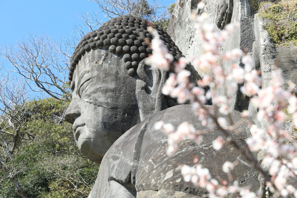 Spring in Japan gives you the perfect hiking weather, like on this one in Nogogiriyama and a big Buddha.