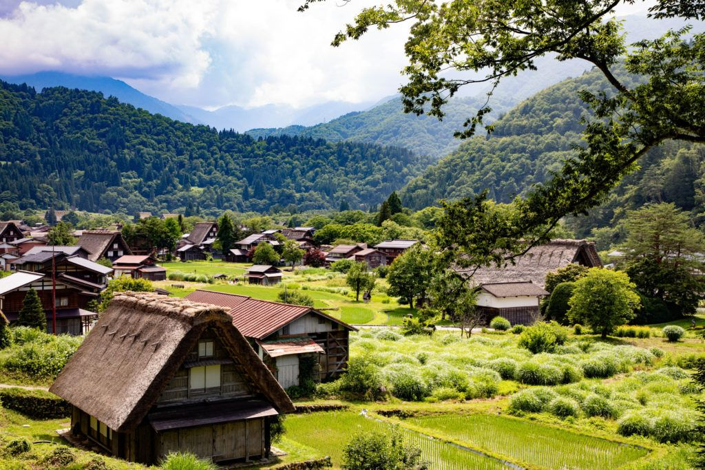 Shirakawago is the Japan thatched roof village of world heritage fame.