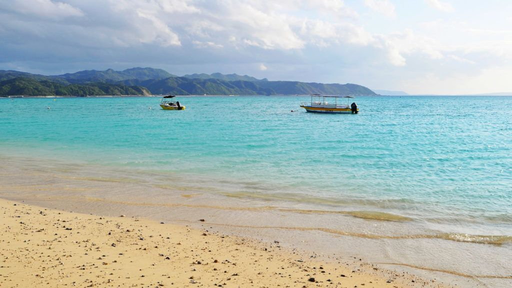Okinawa beaches open in spring.