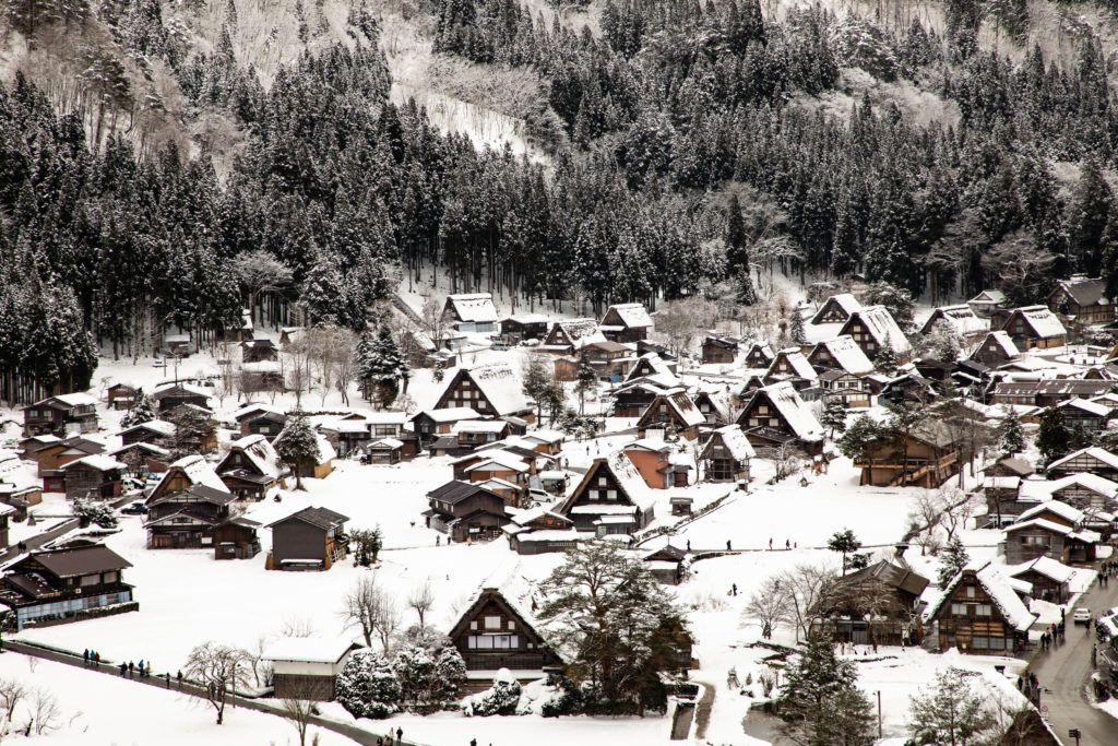 It's much more serene and peaceful in Shirakawa go in winter.