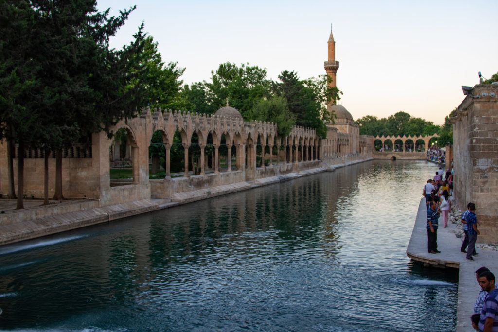 The Mosque and pond complex in Sanliurfa, a must-see attraction.
