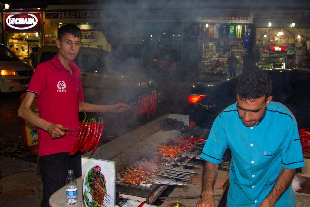 A kebab stand in sanliurfa.