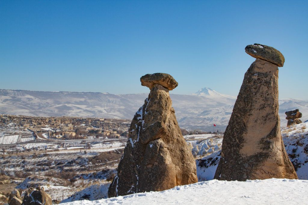 Winter in Cappadocia is not only pretty, but the temperatures are still okay for hiking.
