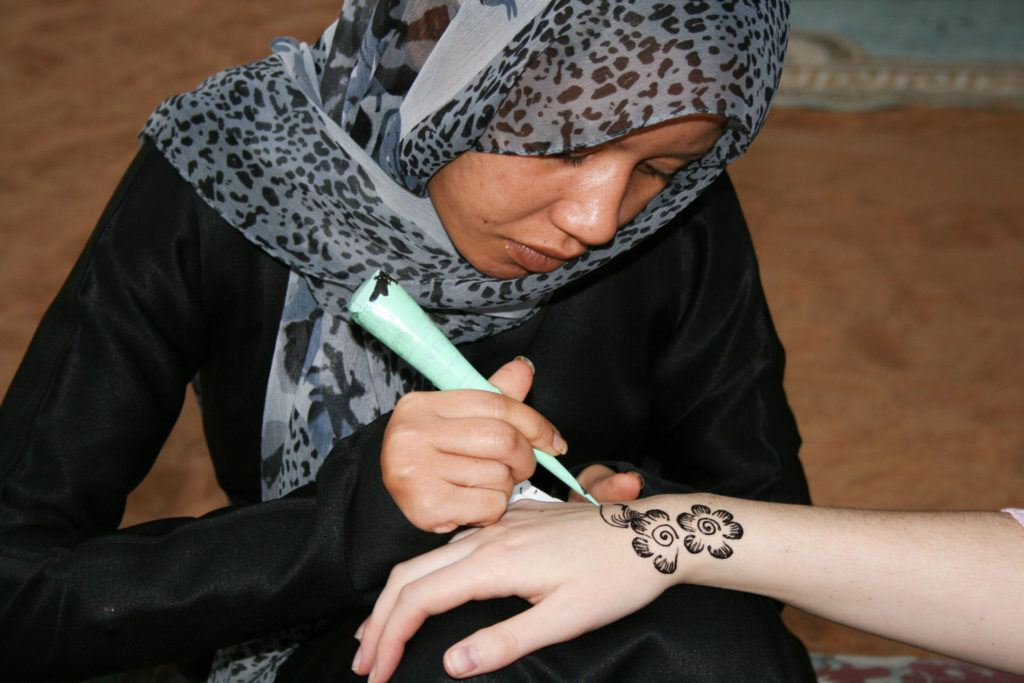 Henna is a popular thing to do in Dubai.