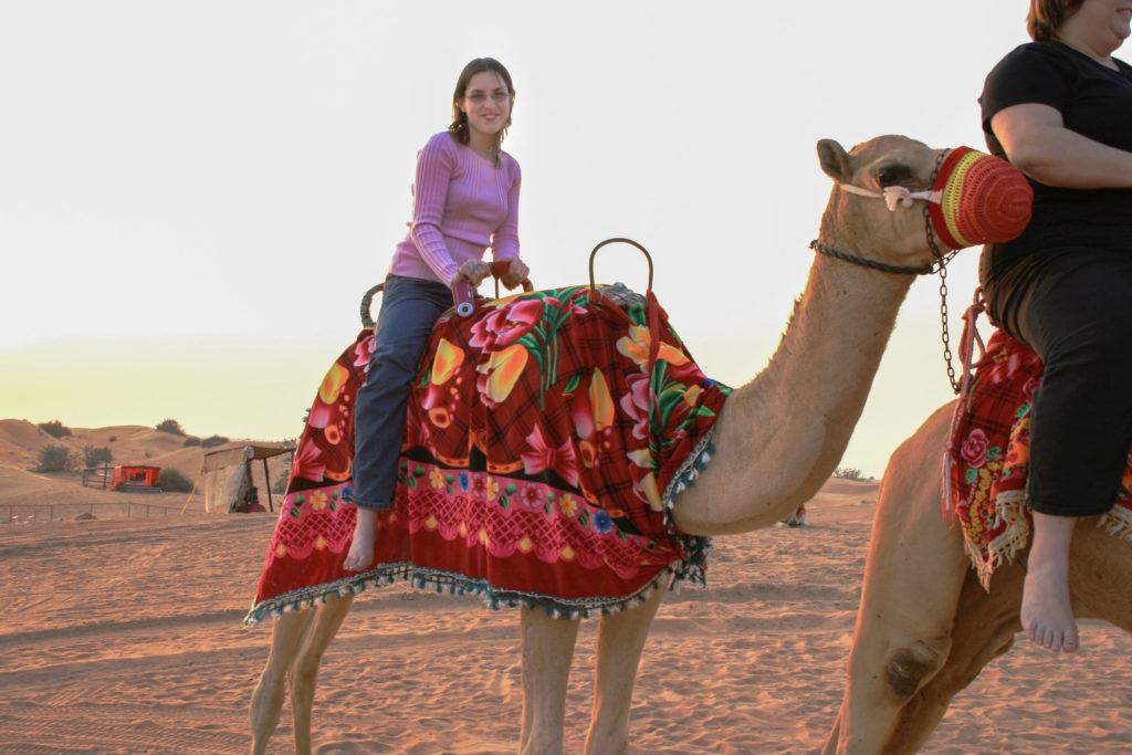 Riding camels is one of the best things to do in Dubai on a Desert Tour.