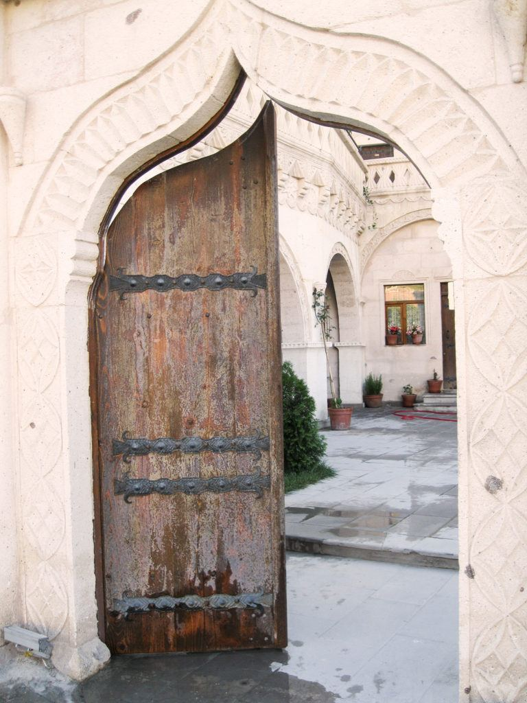 Entrance to Cave Hotel in Goreme.