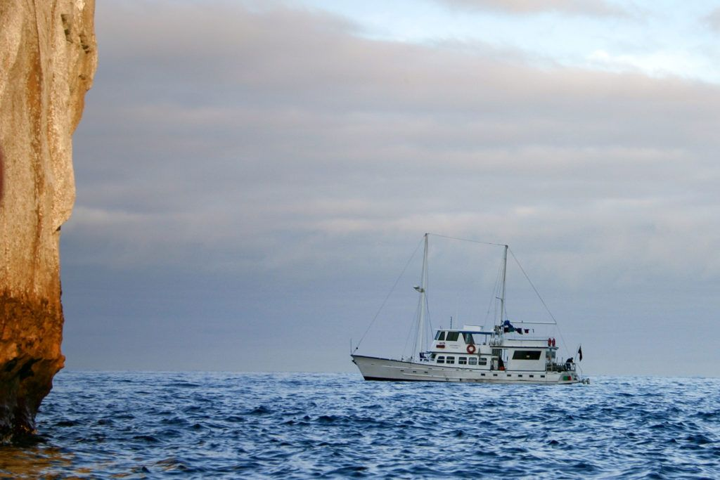 The perfect size ship for a Galapagos cruise, the little Golondrina.