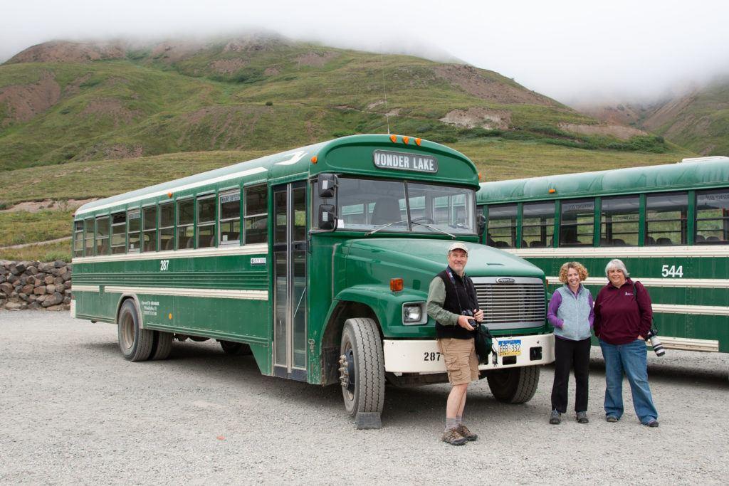 Waiting to board the Wonder Lake Shuttle, an 11 hour bus ride through Denali National Park.