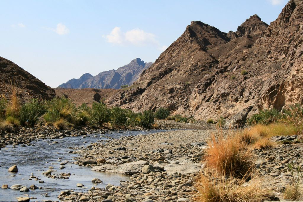 An oasis in the Hajjar mountains.