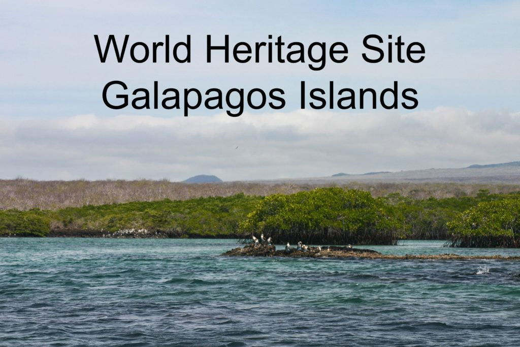 World Heritage Site Galapagos Islands.