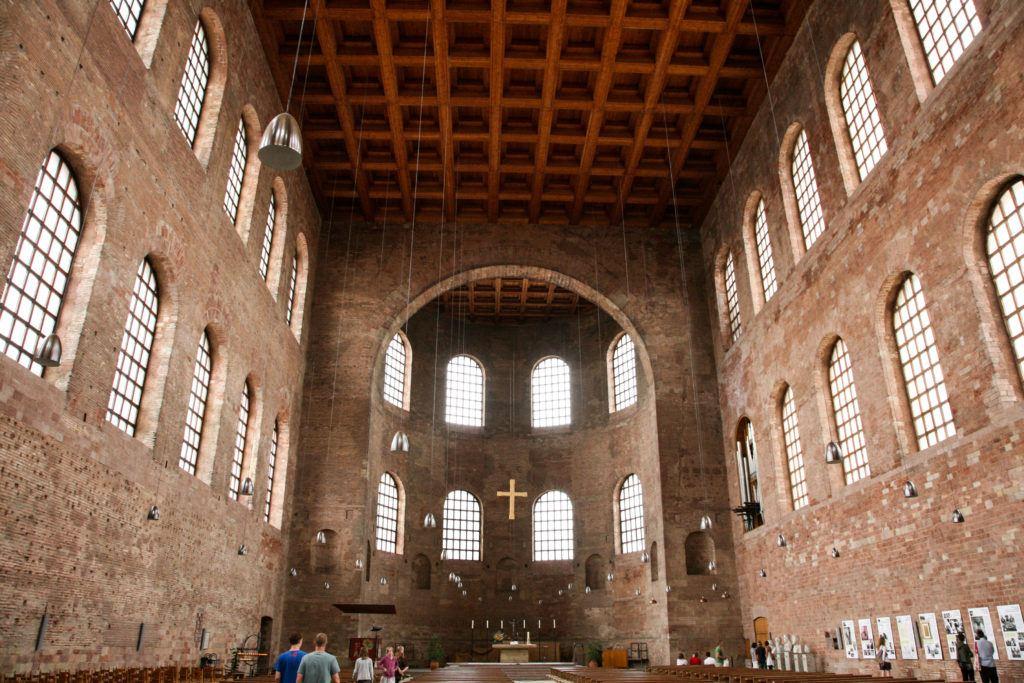 Interior of the Basilica.