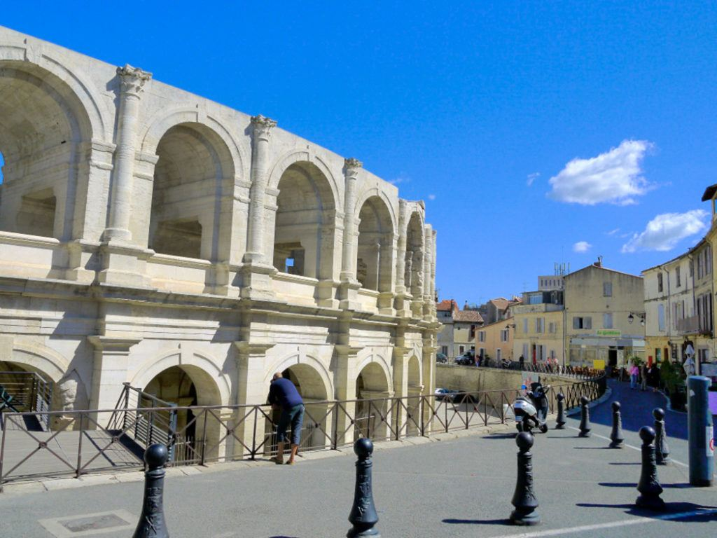 The Roman arena in Arles, France.