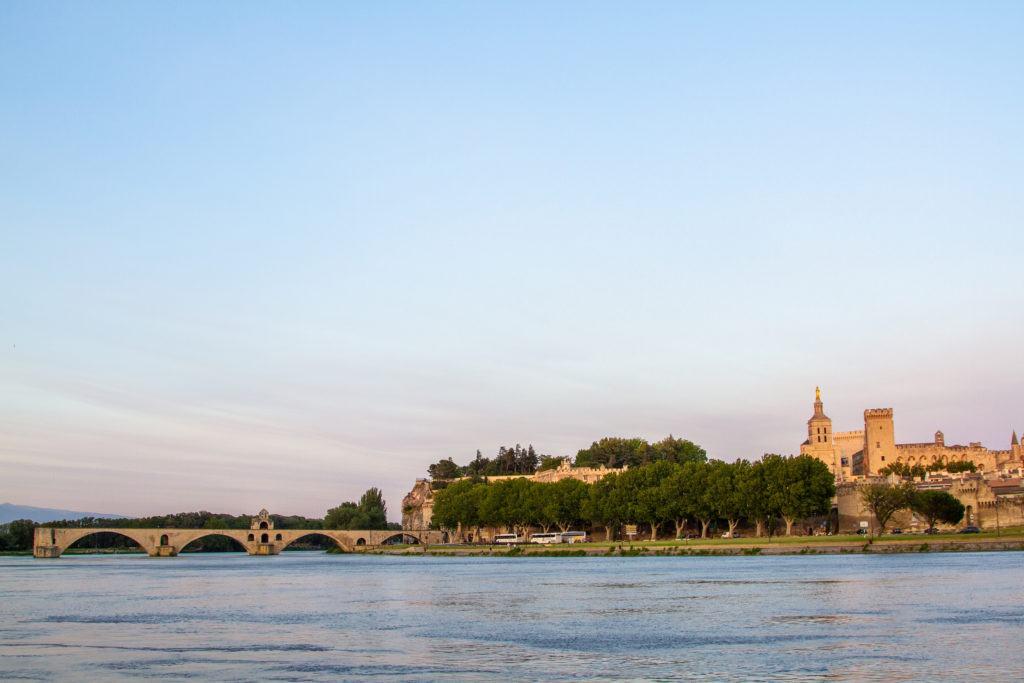 Papal Palace and Avignon bridge.