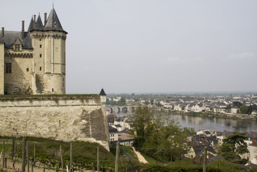 Saumur Castle sits overlooking the Loire Valley.