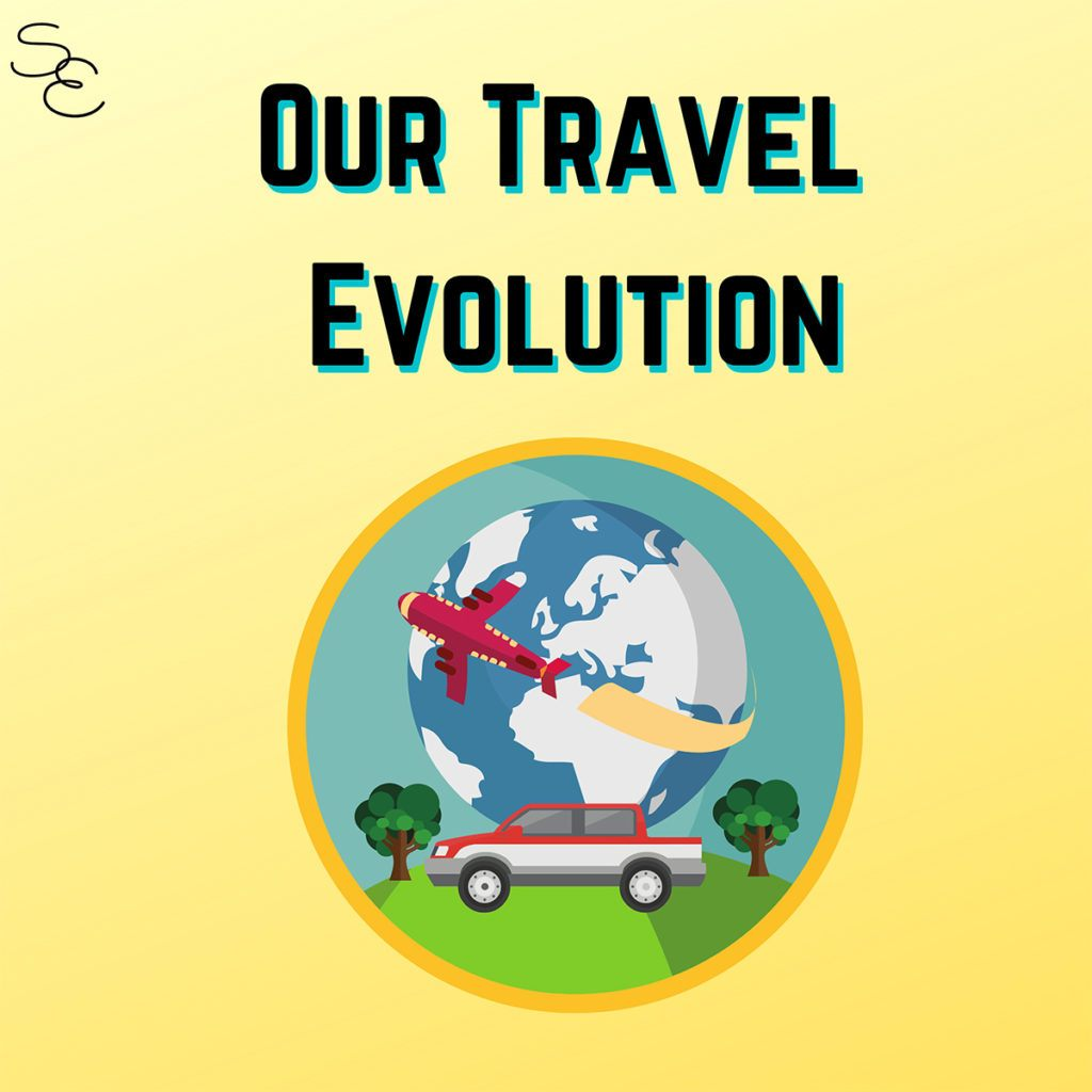 Streets and Eats; podcast episode 2 about our travel evolution.