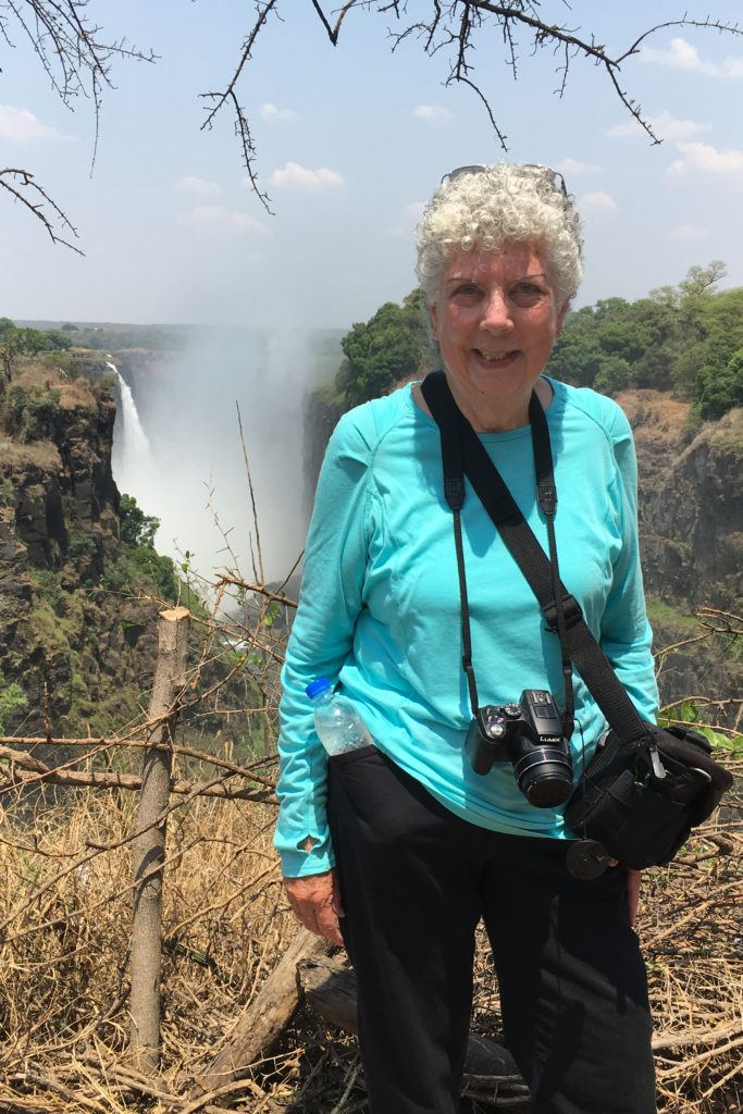 Arriving at incredible Victoria Falls in Zimbabwe, a UNESCO World Heritage Site.