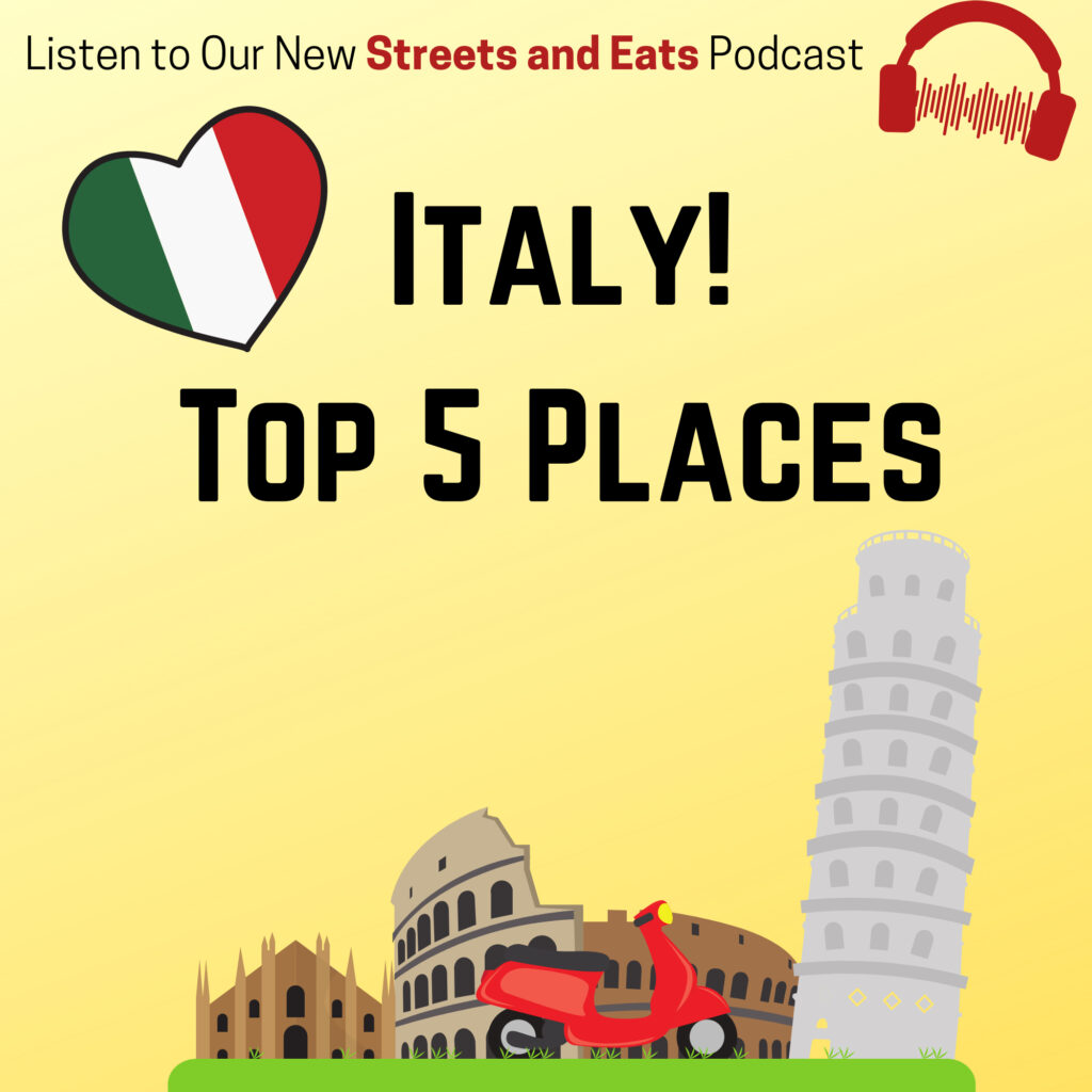 Top 5 places to visit in Italy.